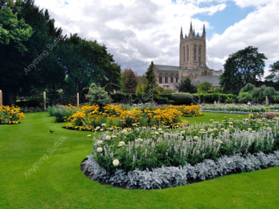 Abbey Gardens and St Edmundsbury Cathedral by Hazel Calver