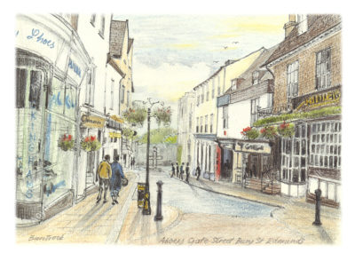Abbeygate Street, Bury St Edmunds by Malcolm Buntrock