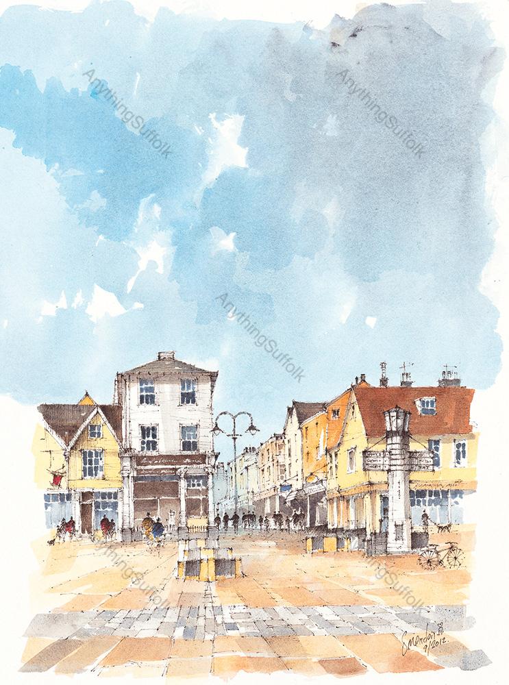 Abbeygate Street, Bury St Edmunds by David Smeaden