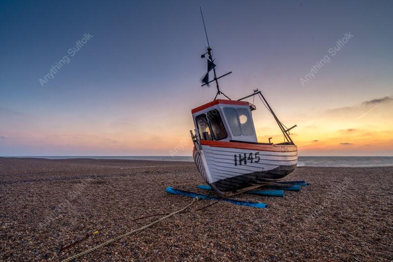 Boat on Aldeburgh beach by Nicholas Seaman