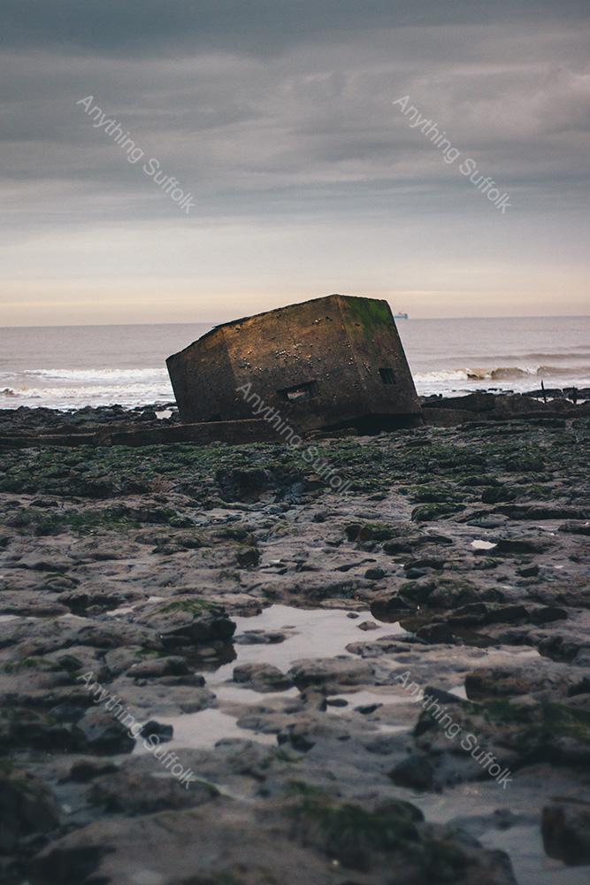 Sunken Pillbox at Bawdsey by Joe Levett