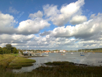 Big skies over the Deben by Hazel Calver