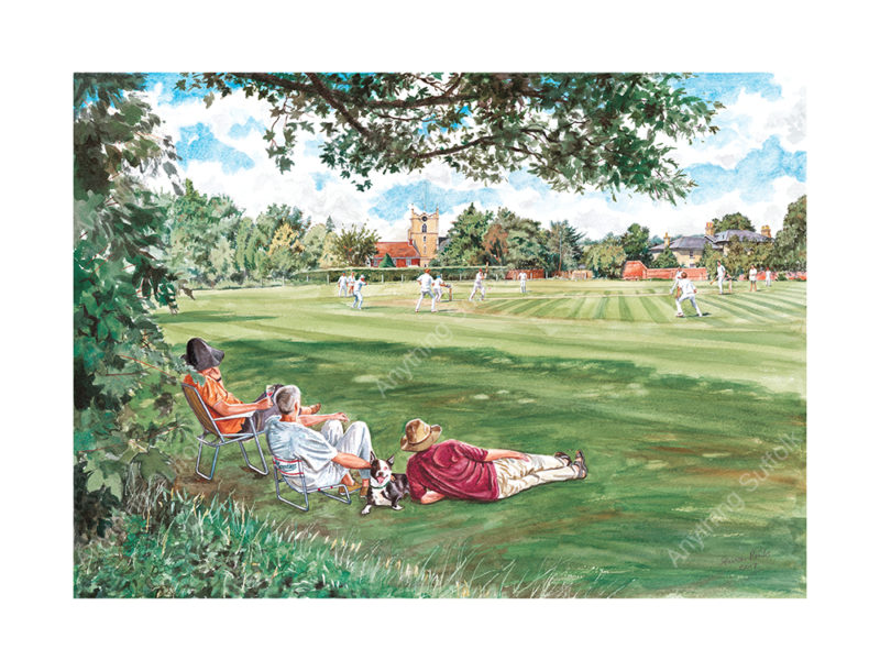 Cricket in Bures by Steven Binks