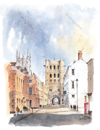 Churchgate Street, Bury St Edmunds by David Smeaden