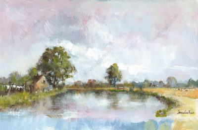Cottage by the Stour by David Smeaden