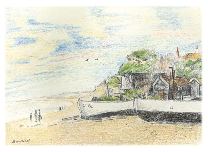 Dunwich Beach by Malcolm Buntrock