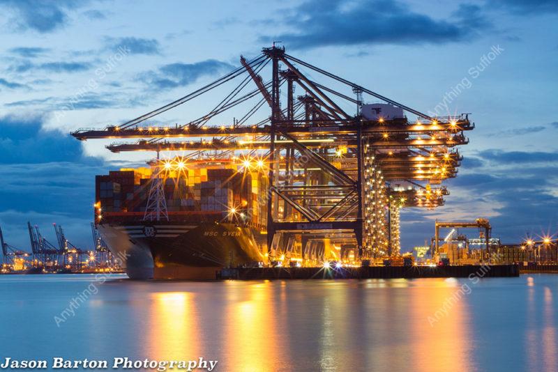 Felixstowe Docks by Jason Barton