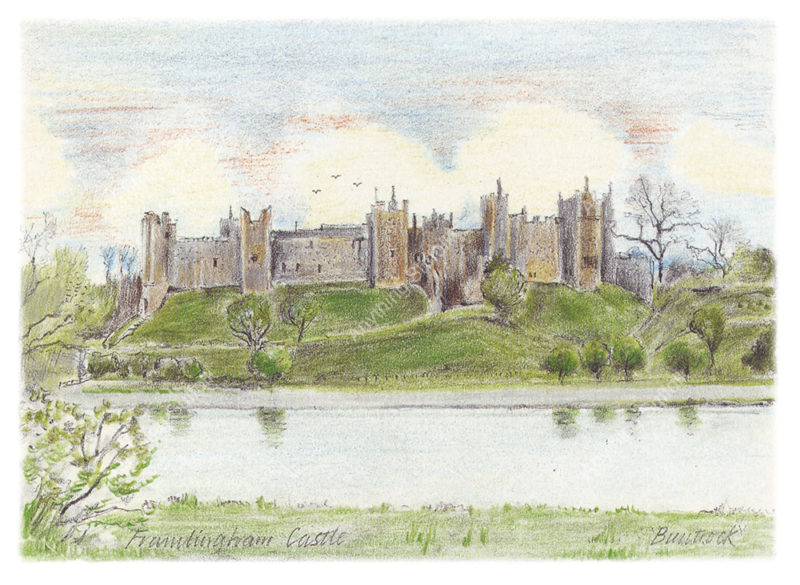 Framlingham Castle by Malcolm Buntrock