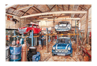 Working Garage in Whiting Street, Bury St Edmunds by Steven Binks