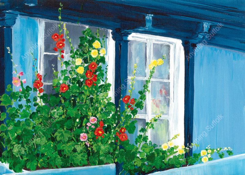 Hollyhocks by Sue Stroud