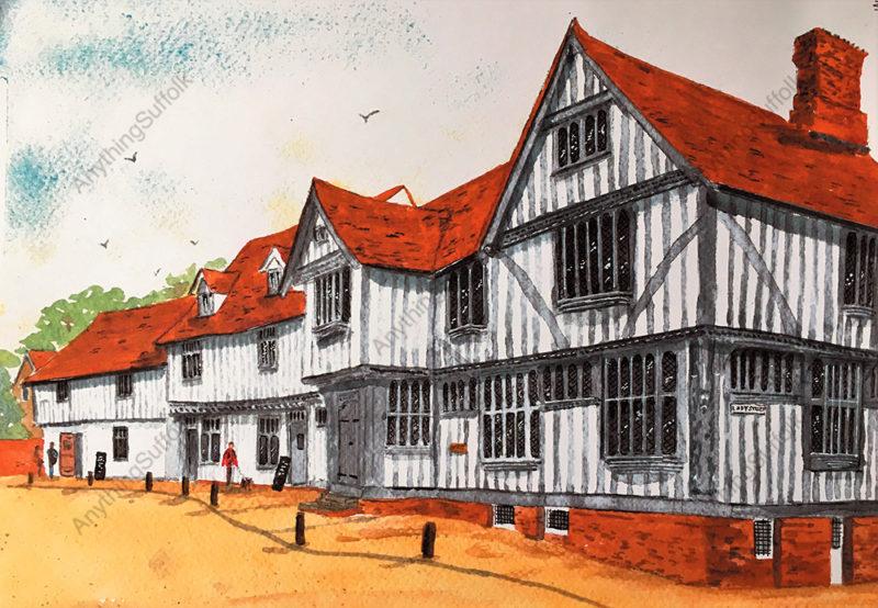 Lavenham Guildhall by Irene Hart