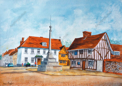 Market Cross, Lavenham by Irene Hart