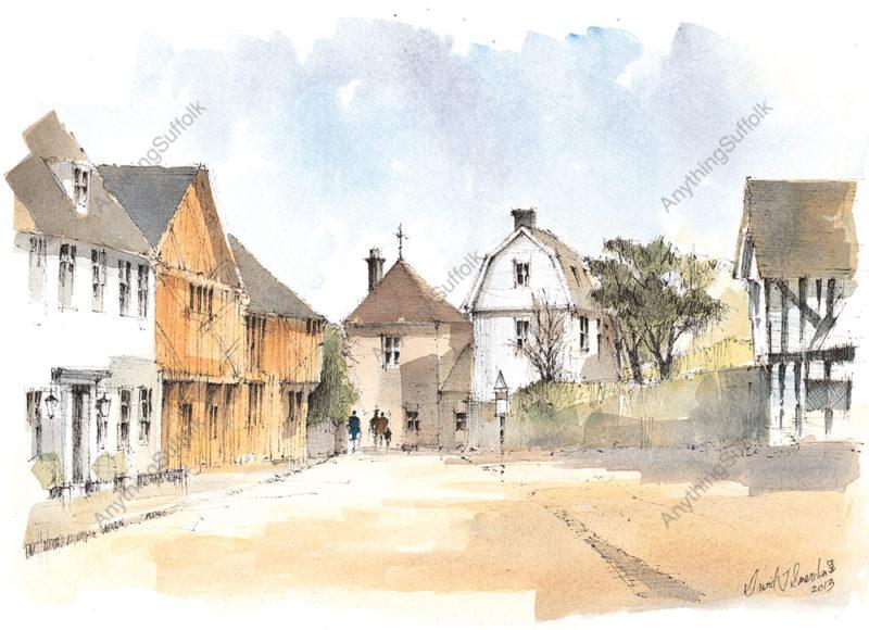 Market Place, Lavenham by David Smeaden
