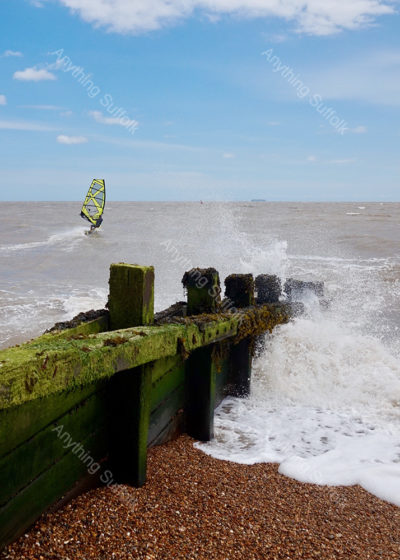 Old Felixstowe Beach by Sue Stroud