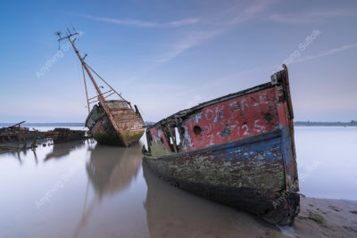 Old boats at Pin Mill by Nicholas Seaman