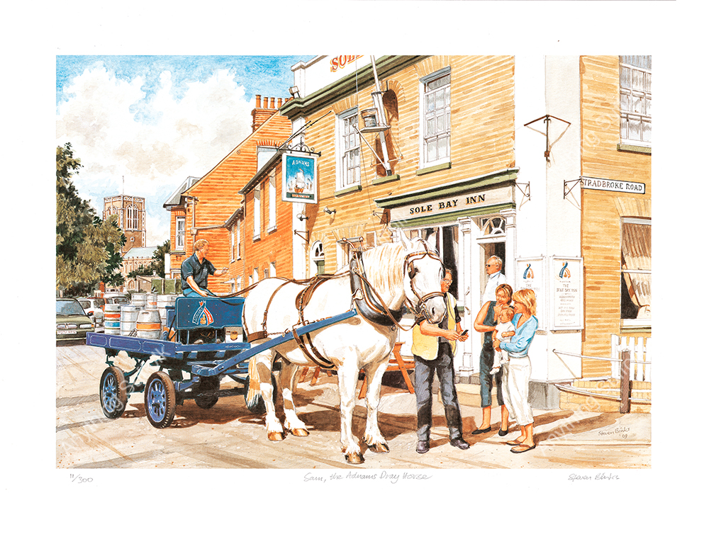 Sam the Adnams Dray by Steven Binks