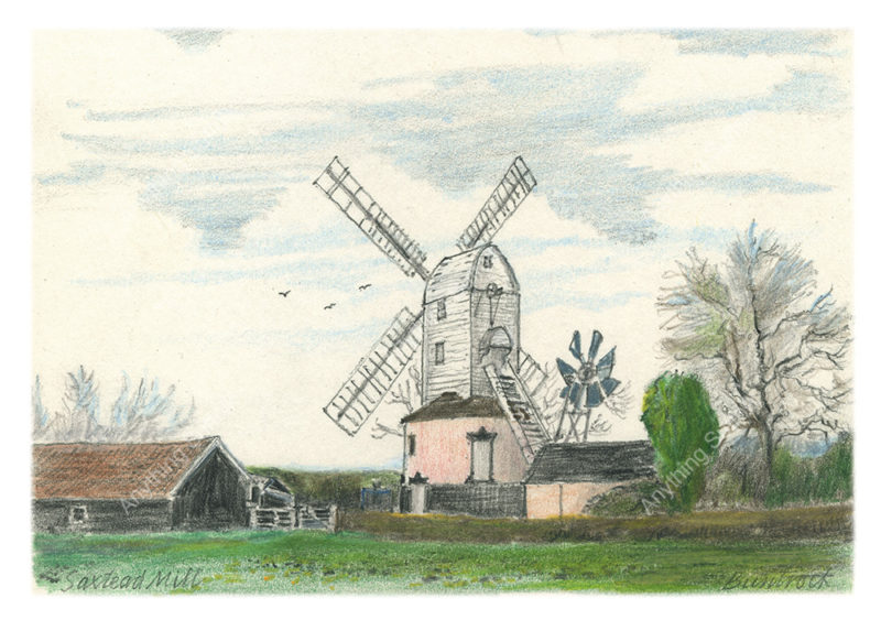 Saxtead Mill by Malcolm Buntrock
