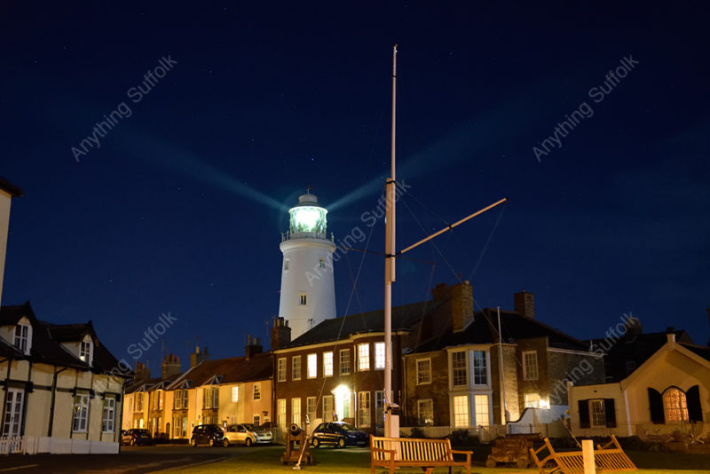 Southwold lighthouse at night by James Ellis
