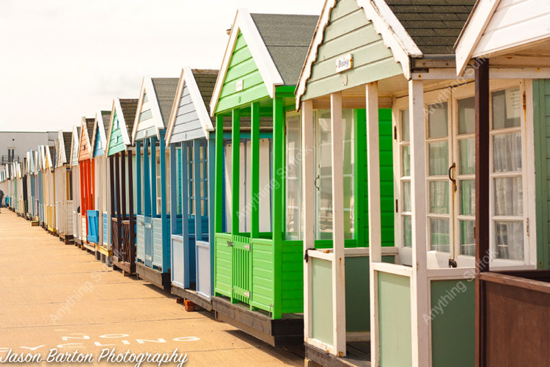 Beach Huts in Southwold by Jason Barton