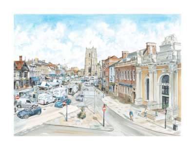 Sudbury Market Hill by Steven Binks