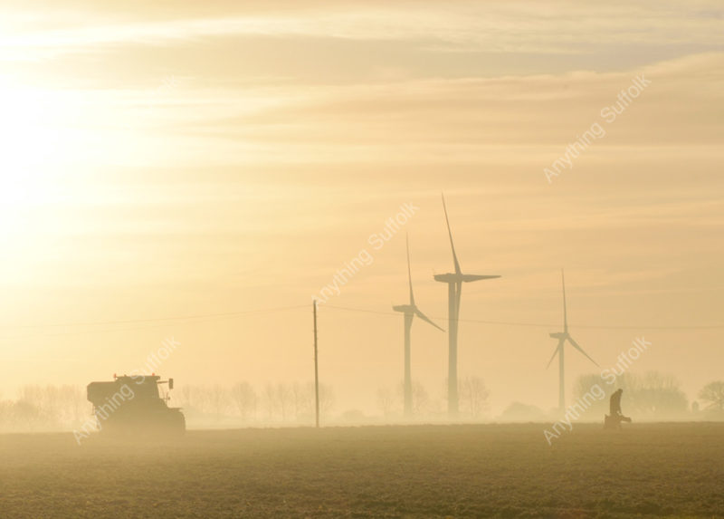Suffolk agriculture and wind turbines by James Ellis
