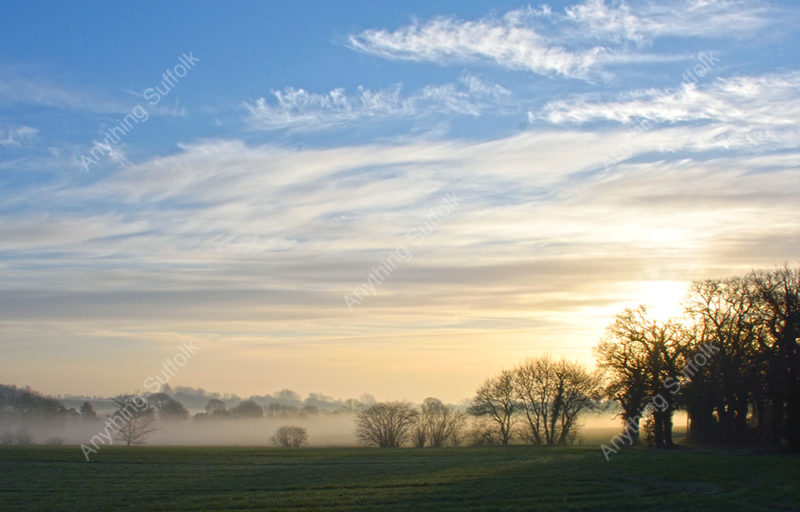Misty Suffolk Landscape by James Ellis