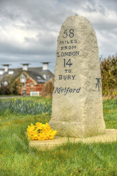The Maltings Milestone, Long Melford by Steve Thomson