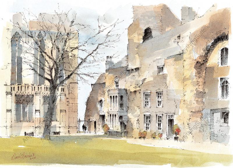 West Front, Bury St Edmunds by David Smeaden
