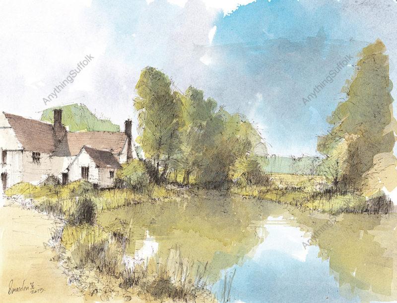 Willy Lott's Cottage, Flatford by David Smeaden