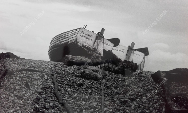 Fishing Boats at Dunwich by Julie Castell
