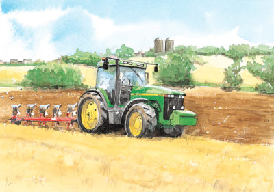 Ploughing near Needham Market by Jonathan Steed