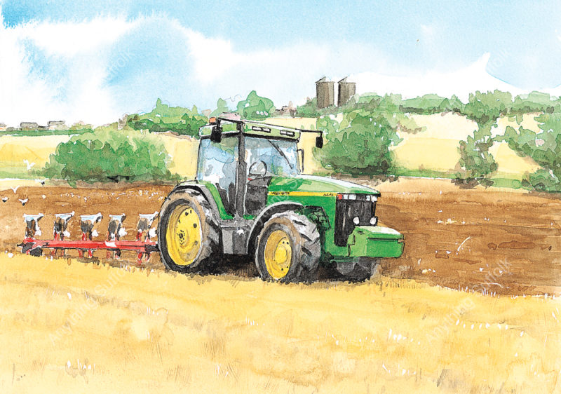 Ploughing near Needham Market by Jonathan Steed