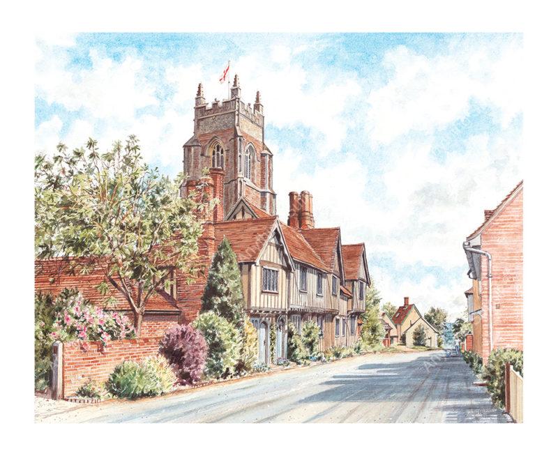 Stoke by Nayland Church by Steven Binks