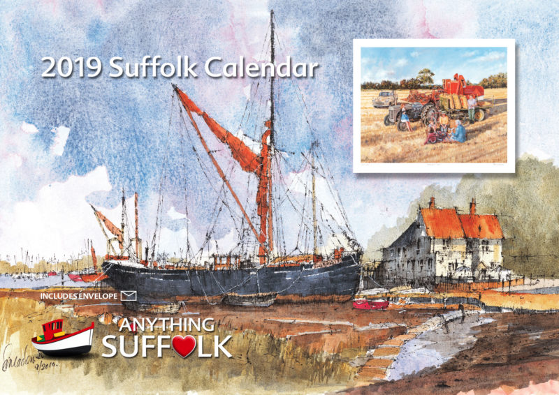 Anything Suffolk Illustrations Calendar 2019