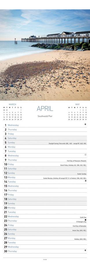 Carousel Slim Suffolk Calendar 2020 - inner page
