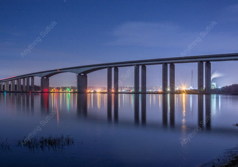 Orwell Bridge at Night by James Langlois