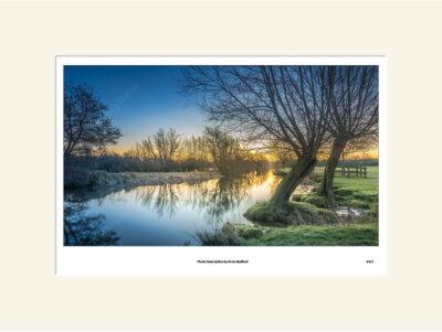 River Stour Winter Sunrise by Aron Radford