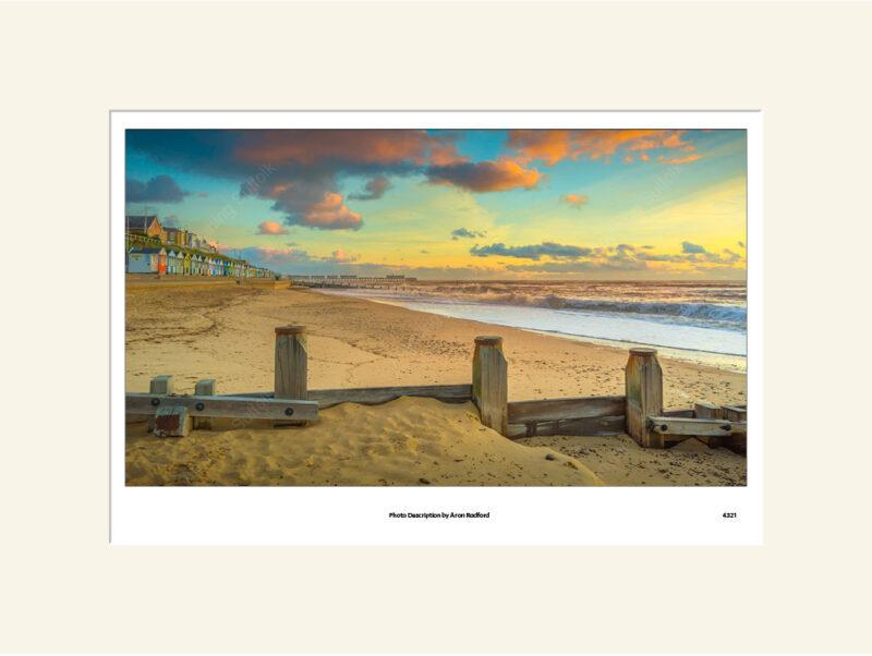 Southwold Beach Sunrise by Aron Radford
