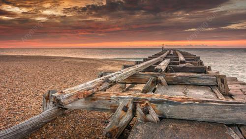 Landguard Point Jetty by Aron Radford