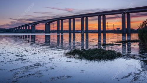 Orwell Bridge Sunset by James Langlois
